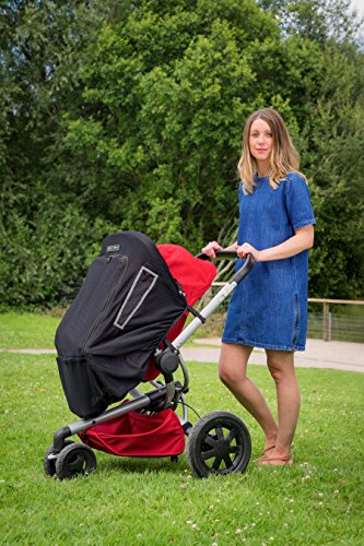 Musical Sunshade and Blackout Blind fits all Buggies, Prams or Pushchairs with unique plug and play music facility. Includes MP4 Player and Free Album