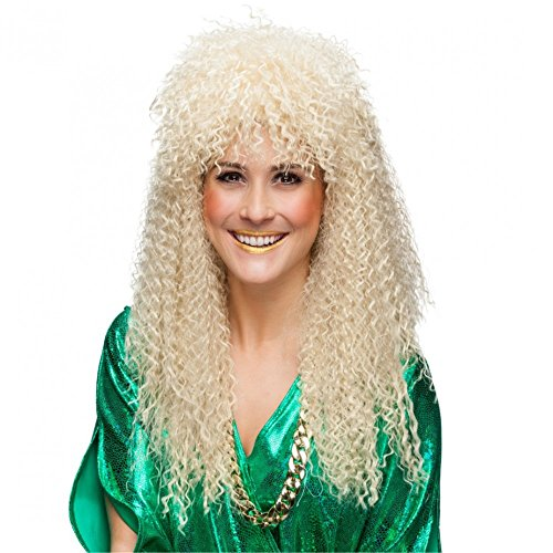 Perücke 80er Jahre gelockt blond Langhaar Damenperücke Fasching (Achtziger Perücken Jahre)