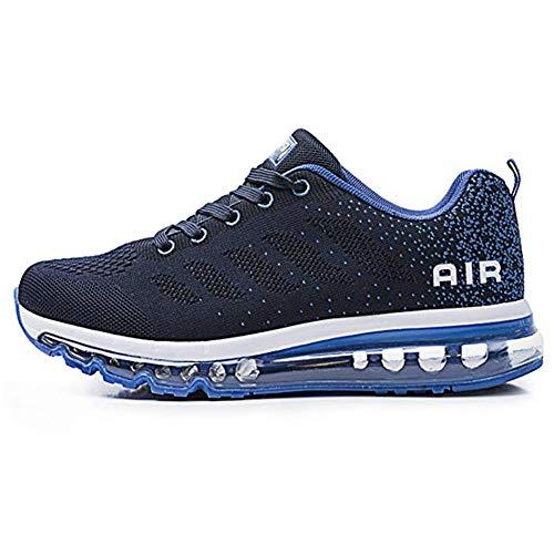 Unisex Scarpe Sportivo Uomo Donna Scarpe da Ginnastica Corsa Air Sneakers Basse Interior Casual all'Aperto(833-BL41)