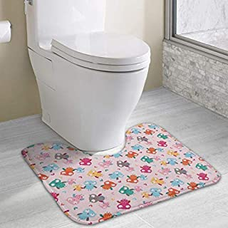 Cartoon Owl Non Slip Contour Bath Mat for Toilet Absorbent Water Perfect for Bathroom Buy Bath Mats online at Best Prices