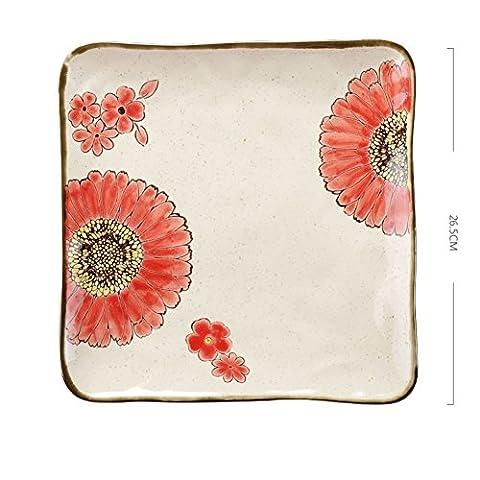 Creative hand-painted,flower field ceramic tableware/big fish dish/the dish/dessert-F
