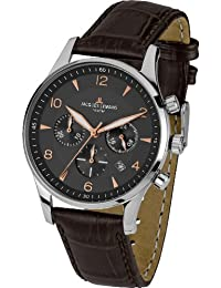 Jacques Lemans Herren-Armbanduhr XL london classic Chronograph Quarz Leder 1-1654F