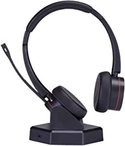 Mkj Kabelloses Telefon Headset Mit Geräuschunterdrückung Mikrofon Freisprecheinrichtung Für Call Center Büro Softphones Skype Konferenzanrufe Microsoft