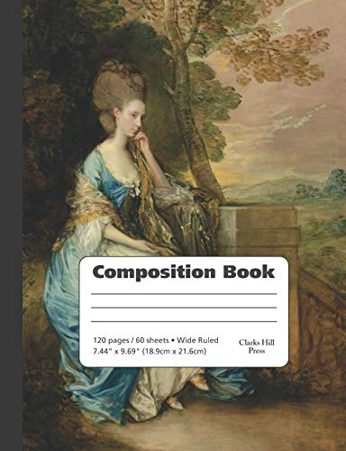 Thomas Gainsborough Portrait of Anne, Countess of Chesterfield  - Wide Ruled Com: A great notebook for artists and art history majors