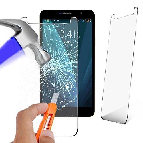 N4U Online - Original Premium Hartglas Displayschutz für Timmy M7 (5.5 ')