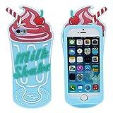 iPhone 5 5S 5C SE Coque Etui Silicone Original Intéressant 3D Crème glacée Apparence Désign Souple Case Anti Choc – Jaune