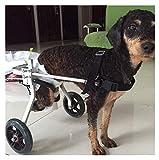 PETDCW Pet Silla de Ruedas Transpirable Comfort Dog Silla para Mayores Ancianos Walker Bolsa de Transporte para Perros pequeños 2 Ruedas (Size : Small)
