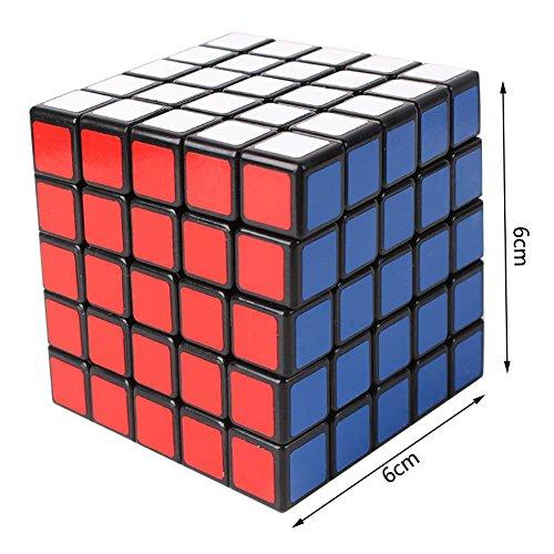 5x5x5 Speed Square Schwarz Rubiks Würfel 6 * 6 cm - Schnelldrehen - Brain Teasers von (Zubehör Big Baby Kostüm)