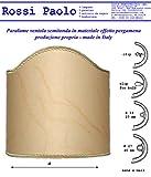 Paolo Rossi Lampenschirm Mittel Lampenschirm imitat alten Pergament mit Gold Finishing - Eingen Produktion - Made in Italy (Durchmesser cm 10)