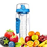 Best Botellas de infusión de frutas Deportes - Botella de Agua de Tritan de 1 Litro Review