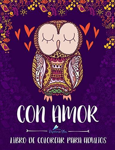 Con Amor: Libro De Colorear Para Adultos por Papeterie Bleu