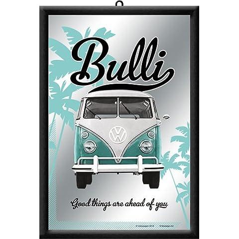 Nostalgic-Art 80726 - Espejo, diseño de furgoneta Bulli de VW con texto
