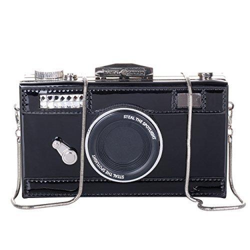 QZUnique Damen pu-Kamera-Shaped Snapshot beiläufige kreuzschulterhandtasche einheitsgröße