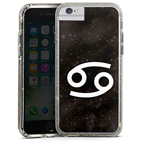 Apple iPhone 6 Plus Bumper Hülle Bumper Case Glitzer Hülle Sternzeichen Krebs Astrologie Bumper Case Glitzer gold