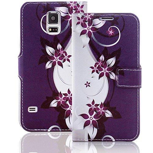 numerva Handyhülle kompatibel mit HTC Desire 510 Hülle [Blumen Muster] Case HTC Desire 510 Handytasche