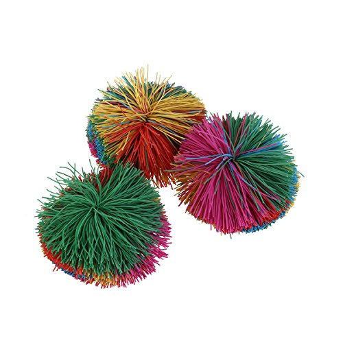 Preisvergleich Produktbild NUOLUX 3 Stück Koosh Ball Stress Spielzeug Stringy Spiel Ball