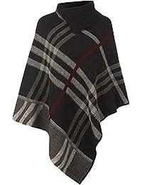 MIXLOT Damen Winter-Casual / Formal Wear Câble Gestrickte Poncho Strickjacke Größe One Size