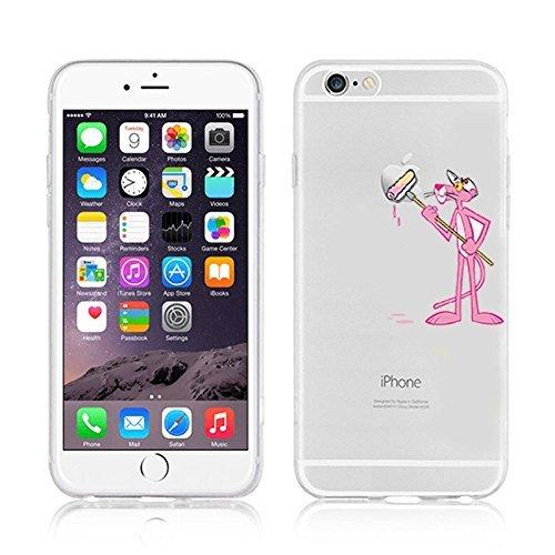 Disney Cartoons transparent klar TPU Weiche Schutzhülle Apple iPhone 5/5S. 5SE & 5C, plastik, PINK PANTHER .1, APPLE IPHONE 5SE
