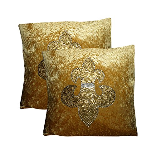 ROTOMAX Crushed Velvet 2 Piece Cushion Cover Set - 16
