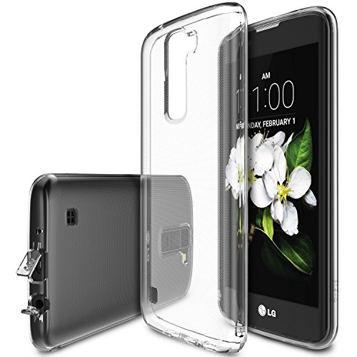 Cover LG K7, ultra-leggera, flessibile e trasparente in TPU (Crystal Wiew)