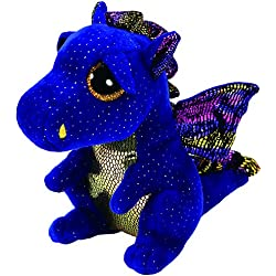 Ty Beanie Boo's Saffire, dragón, Color Azul, 23 cm (United Labels Ibérica 37260TY)