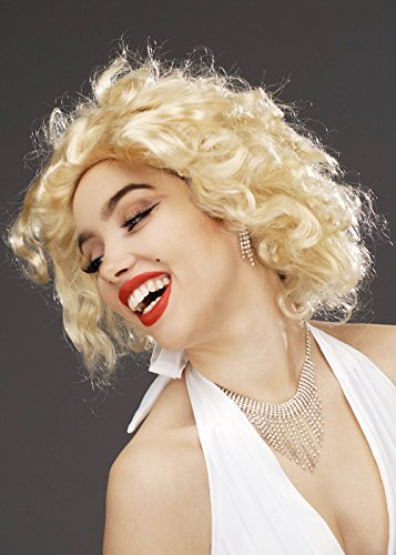 Starlet Kostüme Hollywood (Blonde lockige Hollywood Starlet Marilyn)