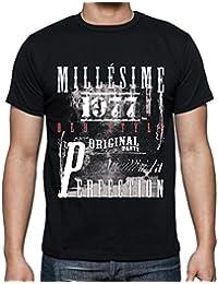 1977,cadeaux,anniversaire,Manches courtes - Homme T-shirt