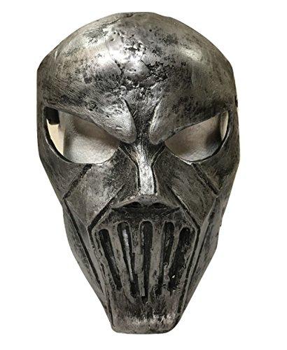 Mick Maske Slipknot (Slipknot - Mick Thomson Stil Silber Glasfaser Deluxe Maske - UNIVERSELL MIT)
