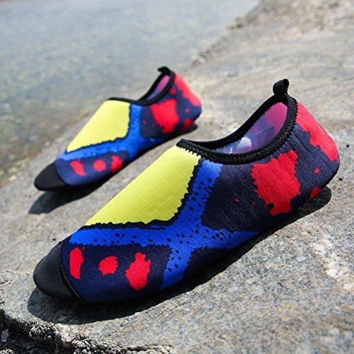 Miagolio Scarpe da Immersione da Scoglio Scarpette da Bagno Mare Spiaggia Ballo Yoga Materiale Traspirante Elastico Antiscivolo Super Leggere Unisex Scarpe Ragazzi Donna Uomini #2 Giallo