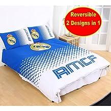 Nueva Real Madrid de fútbol de FADE–Juego de cama (3piezas, funda de edredón niños Kids Dormitorio
