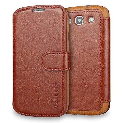 Mulbess Samsung Galaxy S3 / S3 Neo hülle Kaffee Braun,Ledertasche für Samsung Galaxy S3 / S3 Neo Tasche Leder