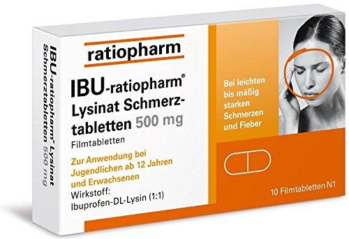 IBU-ratiopharm Lysinat Schmerztabletten 500 mg, 10 St