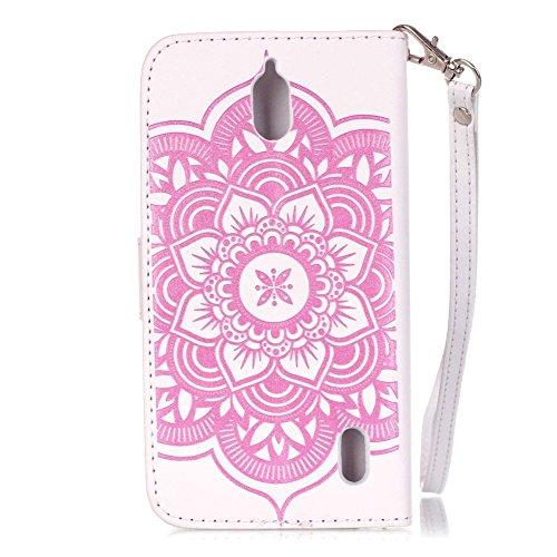 KM con motivo Chi®–Cover protettiva per Apple iPhone 55S/iphone se 5SE libro, Campa Piscinula chiusura magnetica pelle PU Wallet Case Flip Cover per cellulare con funzione leggio portaschede per Ap Pink