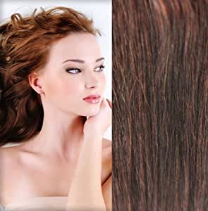 extensions de cheveux humains clips gogodiva 100 remy hair 33 couleur auburn fonc longueur. Black Bedroom Furniture Sets. Home Design Ideas