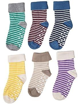 1-2-4-6 Paar Baby Kinder Socken Stoppersocken Bio-Baumwolle Gr.18 bis 26 ABS Antirutschsocken Babysocken Kindersocken