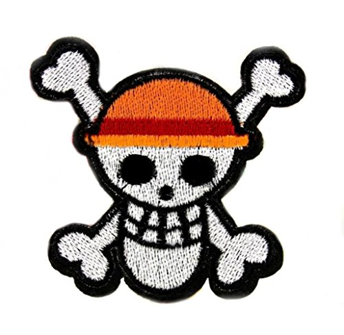 J und C Family OWNED One Piece Pirate Skull Logo bestickt Nähen Patches Applikation