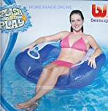 Inflatable Floating Swimming Pool Flip Lounge Chair Blue New