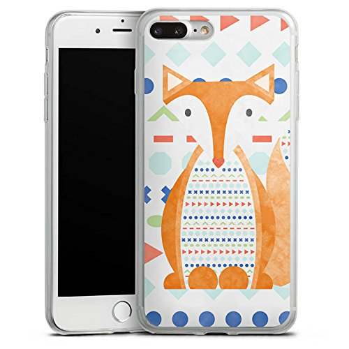 Apple iPhone 8 Slim Case Silikon Hülle Schutzhülle Fuchs Tier Muster Silikon Slim Case transparent
