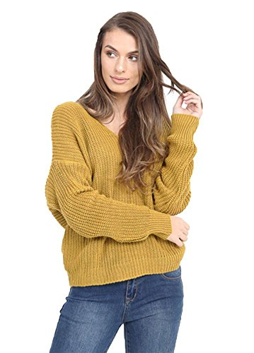Generic - Pull - Pull - Manches Longues - Femme * moutarde
