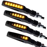4 x LED Motorrad Mini Blinker Laufeffekt Lauflicht Gap Sequentiell schwarz getönt universal 2 Paar 4 Stück