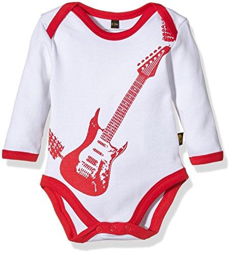 Rockabye-Originals Guitar Bodysuit, Body Unisex Bebé, Blanco (Weiß-Weiß), 0-3 Meses