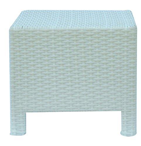 PEGANE Table de Repas Coloris Blanc - Dim : 45 x 45 cm -A Usage PROFESIONNEL
