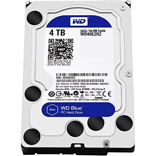 WD Blue 4TB Interne Festplatte (8,9 cm (3,5 Zoll)), SATA 6 Gb/s Bulk WD40EZRZ