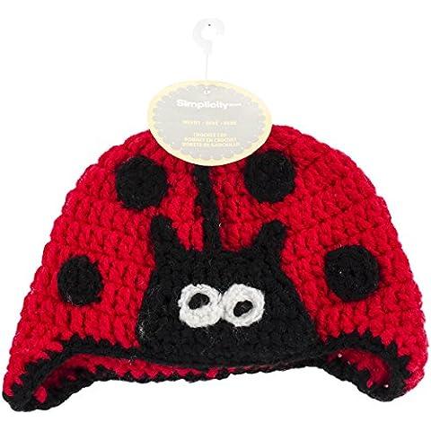 Boye-Kit uncinetto per cappelli per bambini, motivo: coccinella