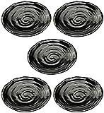 Mino Ware 5 piezas en una placa de pino Set Seto Kuromatsu 246-25-41E (5)