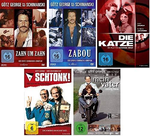 Götz George - 5 DVD Set (Zahn um Zahn, Zabou, die Katze, Schtonk, Mein Vater) - Deutsche Originalware [5 DVDs]