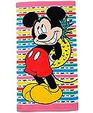 alles-meine.de GmbH Badetuch / Strandtuch -  Disney Mickey Mouse - Ananas  - 70 cm * 140 cm - Frottee / Velours - 100 % Baumwolle - Handtuch - Mädchen & Jungen - 70x140 für Kin..
