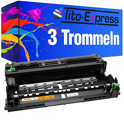 PlatinumSerie 1 Toner Laser XXL per Brother TN-3480 5500DN 6600DW 5000D 5100DN 5100DNT 5100DNTT 5200DW 6250DN 6300DW (07) 3 Trommel-Einheiten