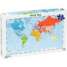 Little Wigwam - Puzzle del Mapa del Mundo (100 piezas)