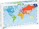 Little Wigwam Mappa del mondo - puzzle da 100 pezzi [Edizione: Inglese]